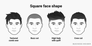 hairstyle by square face shape