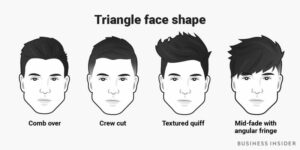 hairstyles by triangular face shape